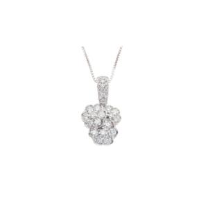 Girocollo in Oro bianco con diamanti