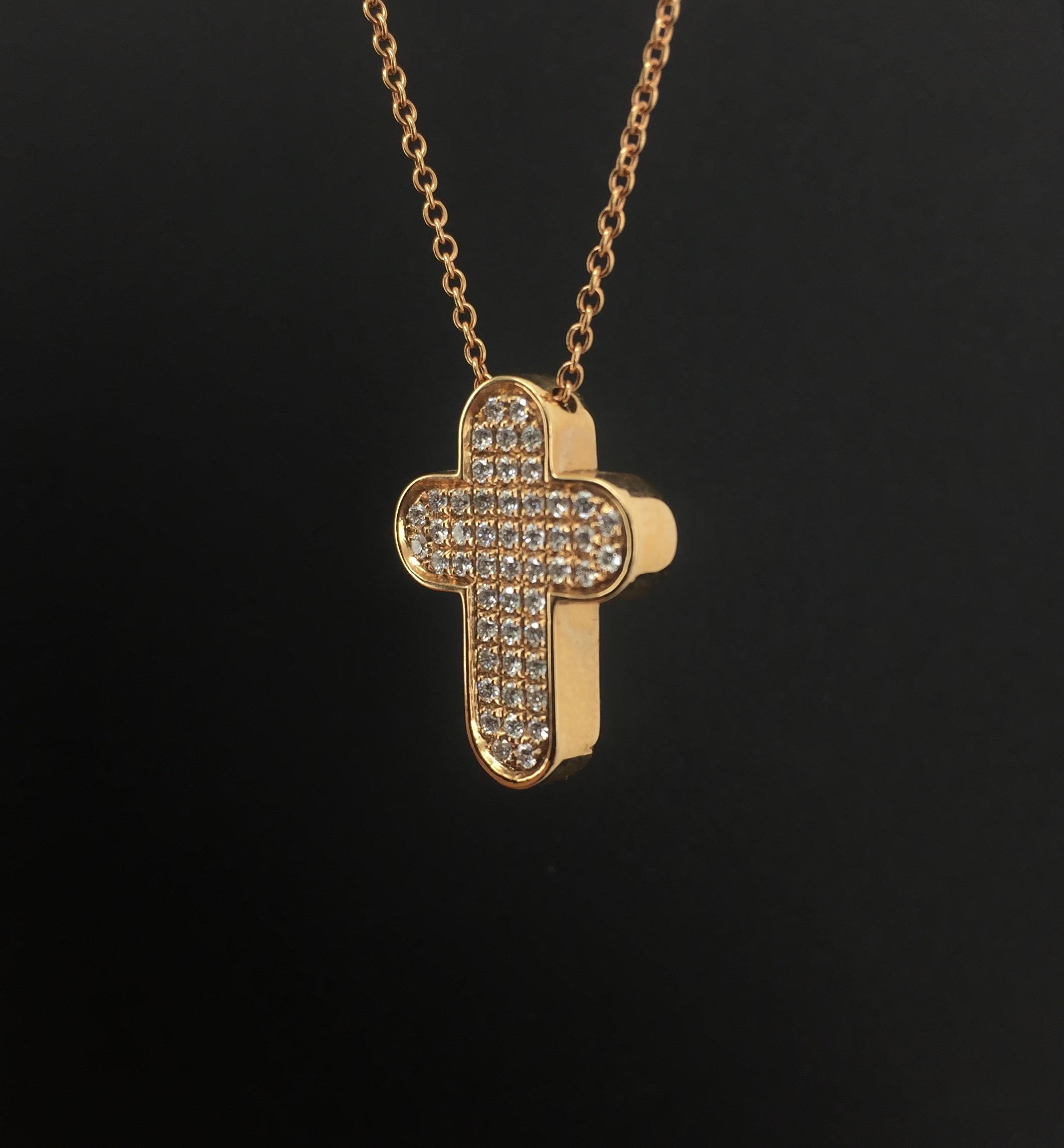 Collana Oro rosa e diamanti