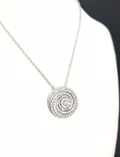 Collana Oro bianco con diamanti
