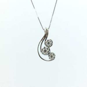 Collana in oro bianco e diamanti