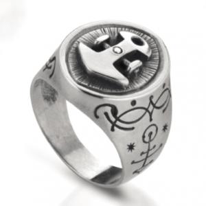 Anello in argento 925 ancora