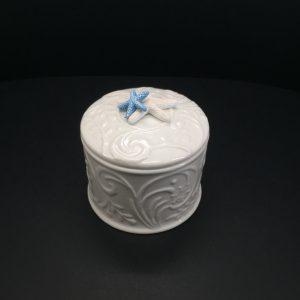 Contenitore tondo porcellana bianco