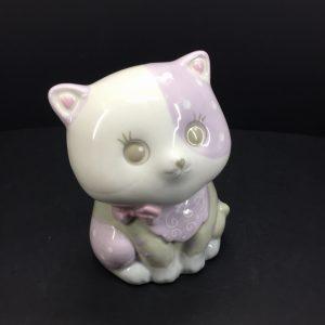 Gattino porcellana dipinto Lilla