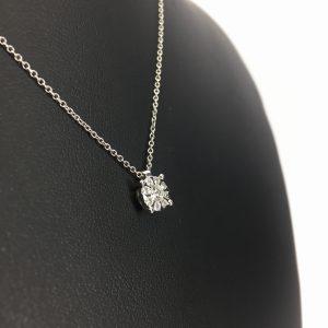 Punto Luce in oro bianco e diamanti