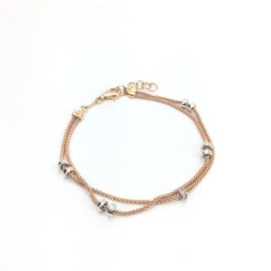 Bracciale in oro rosa e diamanti Chimento