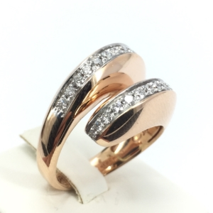 Anello oro rosa e diamanti Chimento