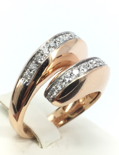 Anello oro rosa e diamanti Chimento