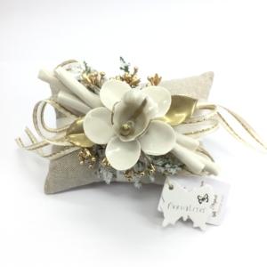 Cuscinetto con Orchidea capodimonte