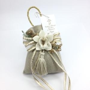 Sacchetto con Orchidea capodimonte