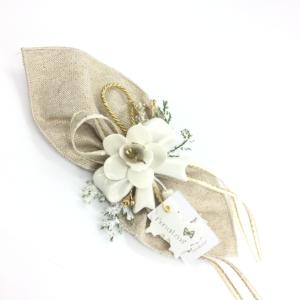 Centrino con nodino Orchidea Capodimonte