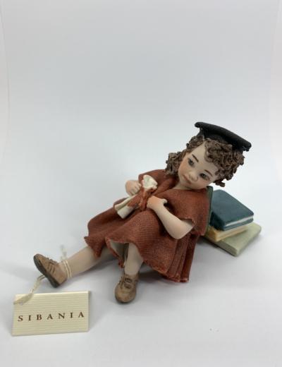 Pippi laureata Statuetta in Porcellana