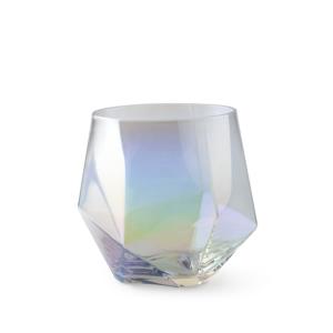 Bicchiere da acqua in vetro iridescente