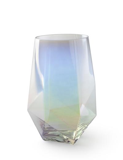 Bicchiere da acqua maxi in vetro iridescente