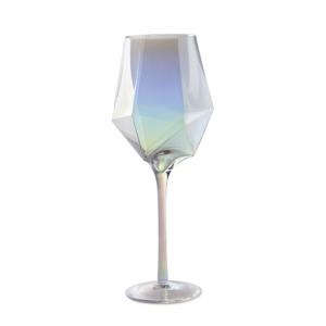 Bicchiere flut in vetro iridescente