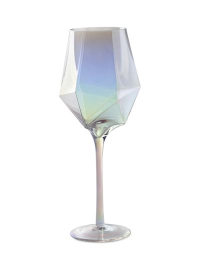Bicchiere da vino in vetro iridescente