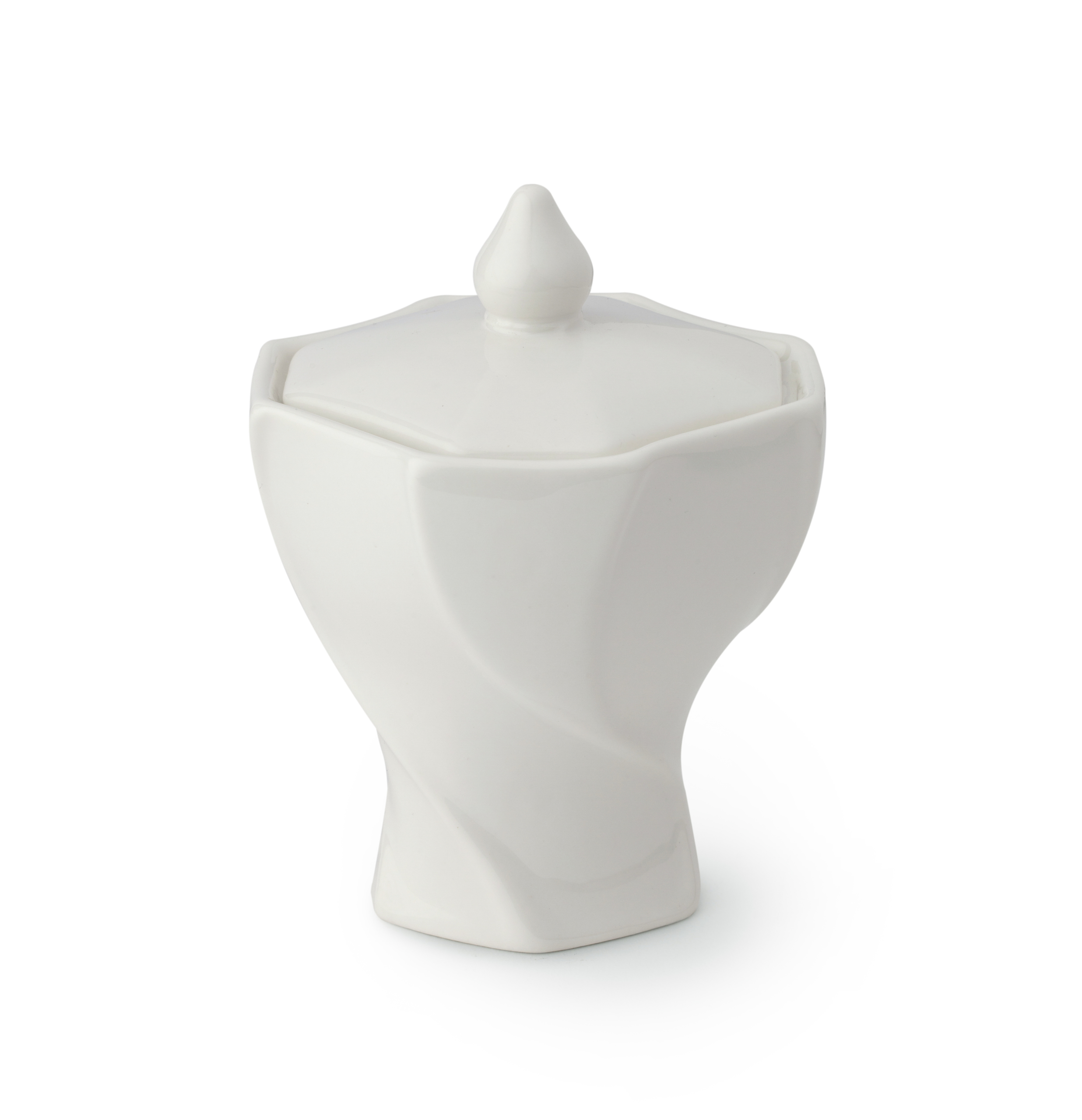 Contenitore porcellana bianca