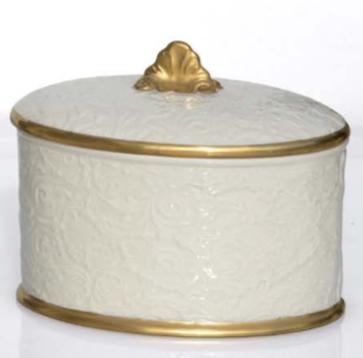 Scatola Amour Capodimonte e oro zecchino