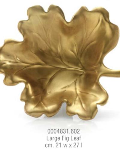 Vuota tasche foglia di fico in oro zecchino